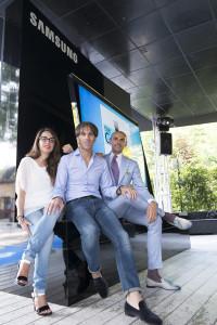Francesca Gonzales, Davide Oldani ed Enzo Miccio