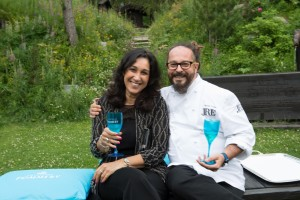 Mimma Posca, AD Vranken-Pommery Italia e lo chef Marcello Trentini del Ristorante Magorabin